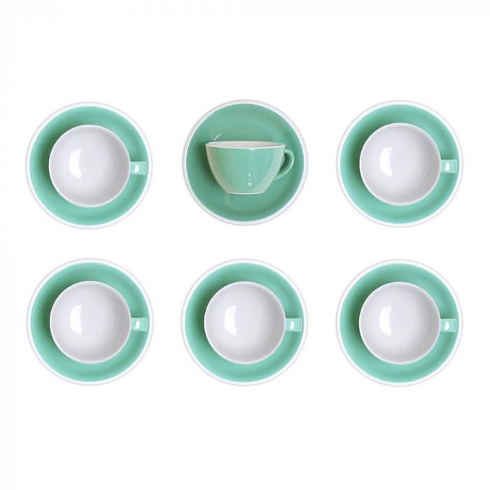 """Set von Cappuccino-Tasse mit Untertasse Loveramics """"Mint"""", 200 ml, 6 Stk."""