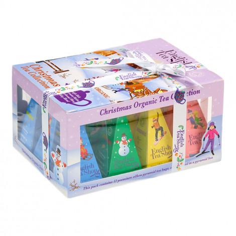 """Tējas komplekts English Tea Shop """"White Christmas Prism"""", 12 gab."""