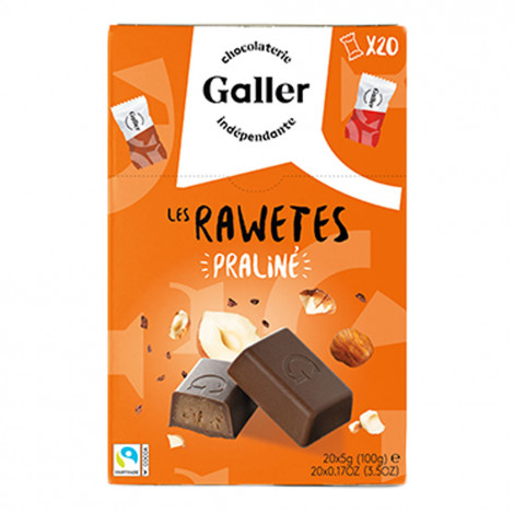 "Šokolādes konfekšu komplekts Galler ""Les Rawetes – Praline"", 20 gab. (100 g)"