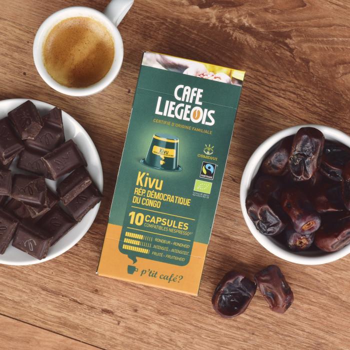 "Kavos kapsulės Café Liégeois ""Kivu"", 10 vnt."