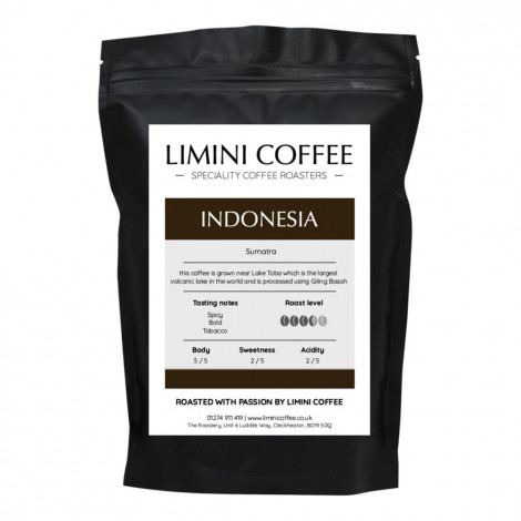"Coffee beans Limini Coffee ""Indonesia Sumatra Lake Toba"", 1 kg"