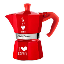 "Espressokocher Bialetti ""Moka Lovers 3–cup Red"""
