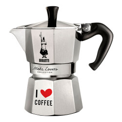 "Espressokocher Bialetti ""Moka Lovers 3–cup Aluminium"""