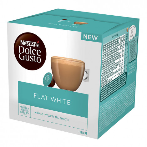 "Kafijas kapsulas NESCAFÉ Dolce Gusto ""Flat White"", 16 gab."