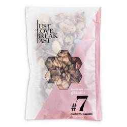 """Luomu granola, cashewpähkinä ja banaani IJLB """"#7"""", 40 g"""
