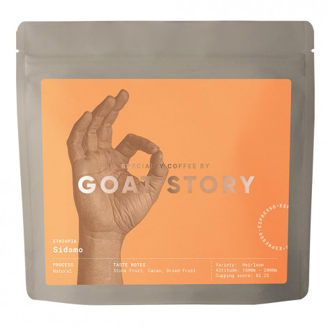 """Specialty coffee beans Goat Story """"Ethiopia Sidamo"""", 250 g"""