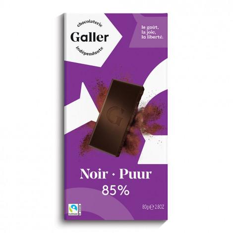 "Schokoladentafel Galler ,,Dark 85%"" 80 g"
