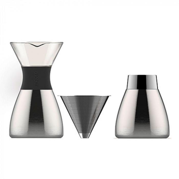 "Tilkumiskann Asobu ""Pour Over Black/Silver 6 cups"""