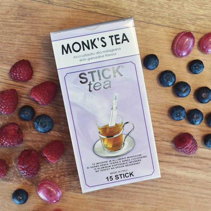 """Granaattiomenan makuinen musta tee Stick Tea """"Monk's tea"""", 50 kpl."""