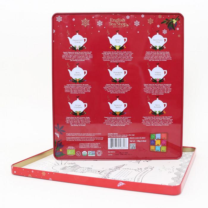 "Tee English Tea Shop ""Premium Holiday Collection Red Gift Tin – 72ct"""