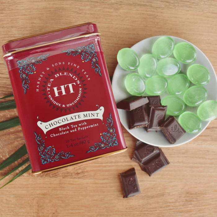 "Must tee aroomiga Harney & Sons ""Chocolate Mint"", 20 tk."