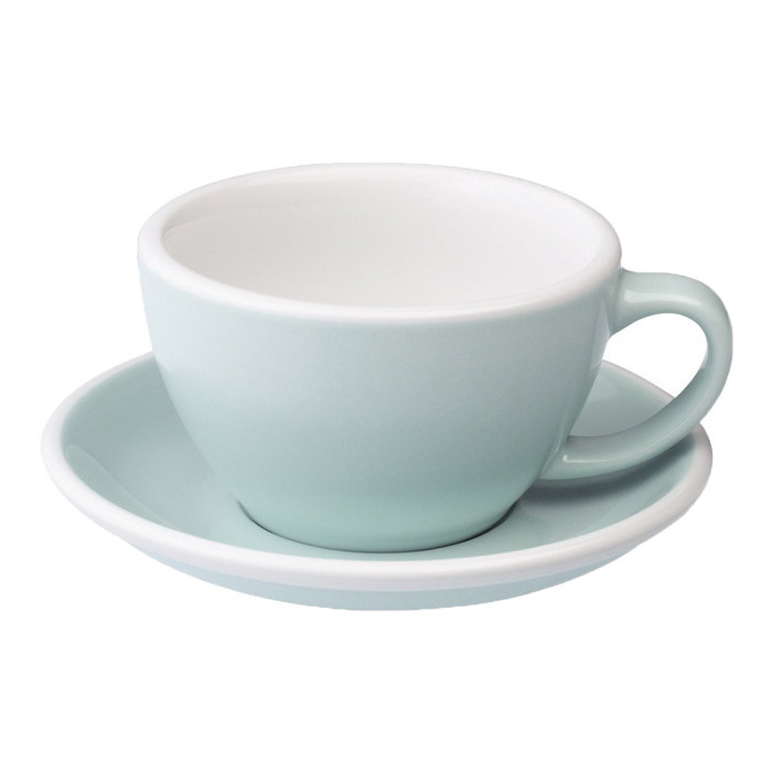 "Café Latte Tasse mit Untertasse Loveramics ""Egg River Blue"", 300 ml"