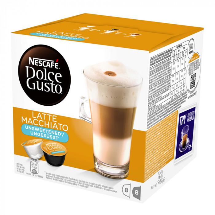 """Kafijas kapsulas NESCAFÉ Dolce Gusto """"Latte Macchiato"""", bez cukura"""