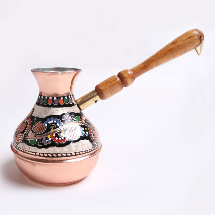 "Handmade turkish coffee pot ""Floral figures"""