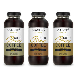 "Cold brew coffee Viaggio Espresso ""Cold Brew Vinilla + Caramel + Chocolate"", 888 ml"