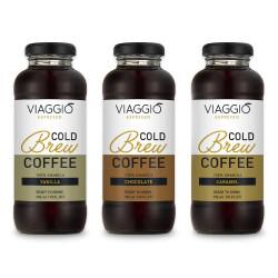 "Kalt gebrühter Kaffee Viaggio Espresso ""Cold Brew Vanilla + Caramel + Chocolate"", 888 ml"