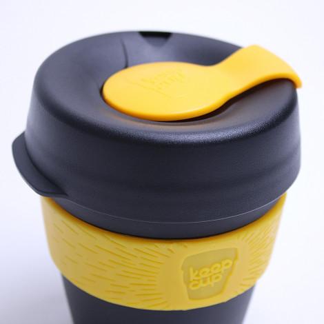 "Kaffee Tasse KeepCup ""Black/Yellow"", 340 ml"