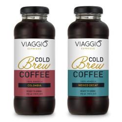 "Kalt gebrühter Kaffee Viaggio Espresso ""Cold Brew Colombia + Mexico Decaffeinato"", 592 ml"