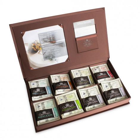 Podarunkowy zestaw herbaciany Harney & Sons w lnianym pudełku