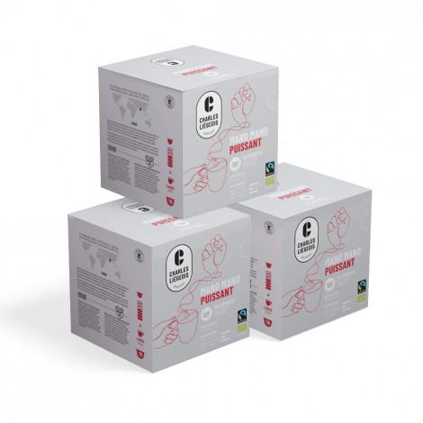 """Coffee capsules compatible with Dolce Gusto® set Charles Liégeois """"Mano Mano Puissant"""", 3 x 16 pcs."""