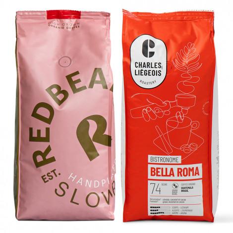 "Kavos pupelių rinkinys ""Gold Label Organic"" + ""Bella Roma"""