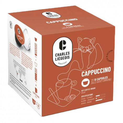 """Coffee capsules compatible with Dolce Gusto® Charles Liégeois """"Cappuccino"""", 8+8 pcs."""