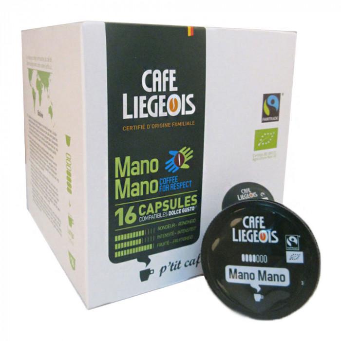 "Kahvikapselit Café Liégeois ""Mano Mano"", 16 kpl."