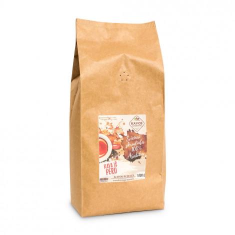 """Kafijas pupiņas Kavos Gurmanai """"Peru EP1"""", 1 kg"""