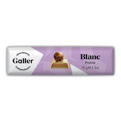 "Šokolādes batoniņš Galler ""White Praliné"", 70 g"
