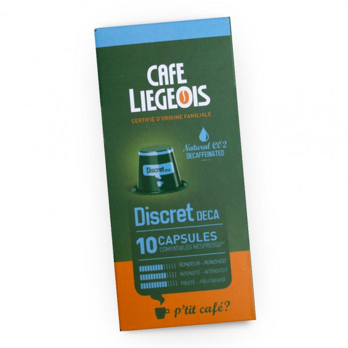 """Kawa w kapsułkach Café Liégeois """"Discret Deca"""", 10 szt."""