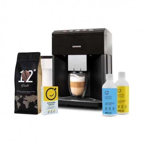 """Kaffeemaschine-Set Siemens """"TQ505R09 + Parallel 12 + EcoDescaler + Milk system cleaner + Blister"""""""