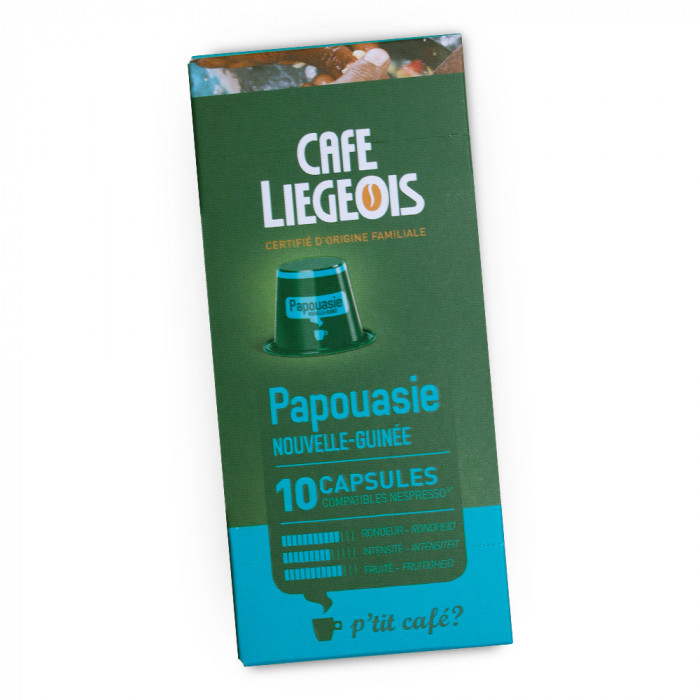 """Kahvikapselit Café Liégeois """"Papouasie"""", 10 kpl."""