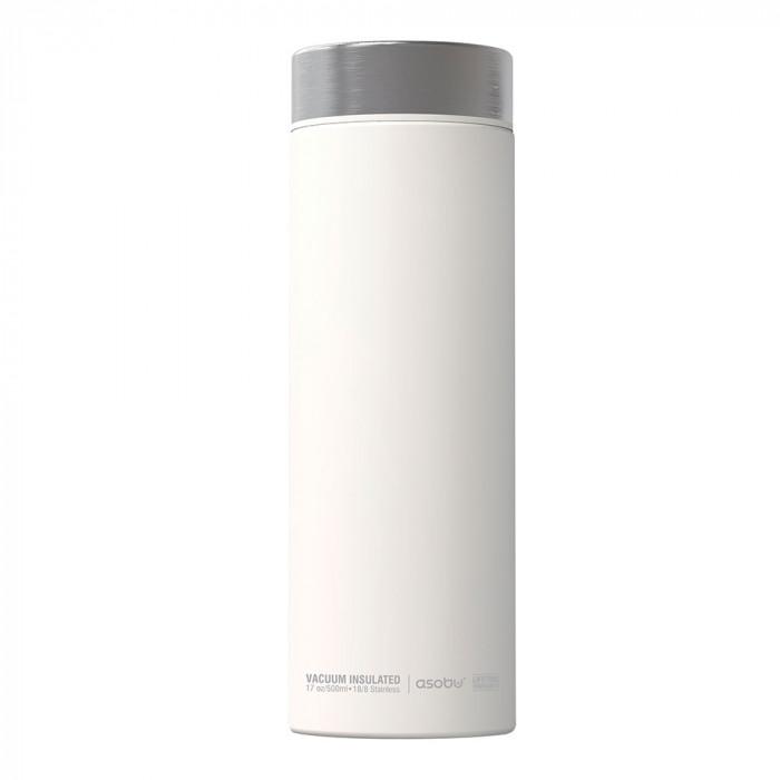 """Thermo bottle Asobu """"Le Baton White Silver"""", 500 ml"""