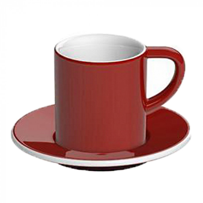"Espresso cup with a saucer Loveramics ""Bond Red"", 80 ml"