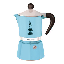 "Kavavirė Bialetti ""Moka Rainbow 3-cup Light Blue"""