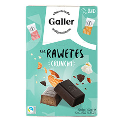 "Pralinen Set Galler ""Les Rawetes – Crunchy"",  20 Stk. (100 g)"