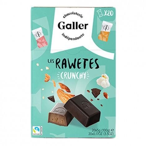 """Šokoladinių saldainių rinkinys Galler """"Les Rawetes – Crunchy"""", 20 vnt. (100 g)"""