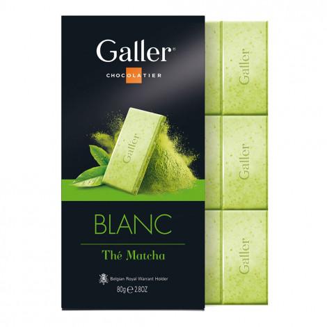 """Šokolado plytelė Galler """"White Matcha Tea"""", 80 g"""