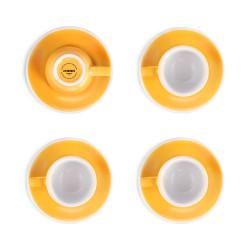 """Set von 4 Espressotassen mit Untertassen Loveramics """"Egg Yellow"""", 80 ml 4 Stk."""
