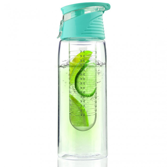 """Water bottle Asobu """"Pure Flavour 2 Go Turquoise"""", 600 ml"""
