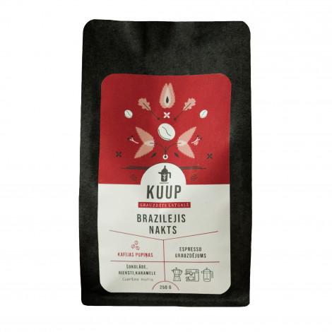 """Specializētās kafijas pupiņas KUUP """"BRAZILEJIS NAKTS"""" Brazīlija Sul de Minas 250 g"""