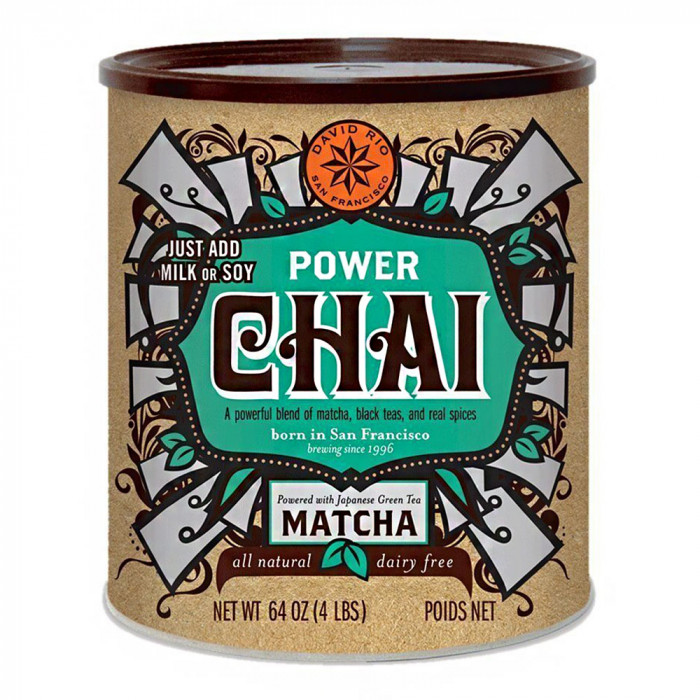 "Instant tea David Rio ""Power Chai"" with matcha green tea, 1816 g"