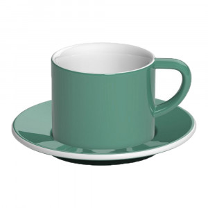 "Puodelis su lėkštute Loveramics ""Bond Teal"" Cappuccino, 150 ml"