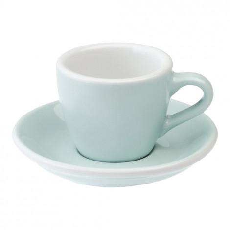 """Espresso krūzīte ar apakštasīti """"Egg River Blue"""", 80 ml"""