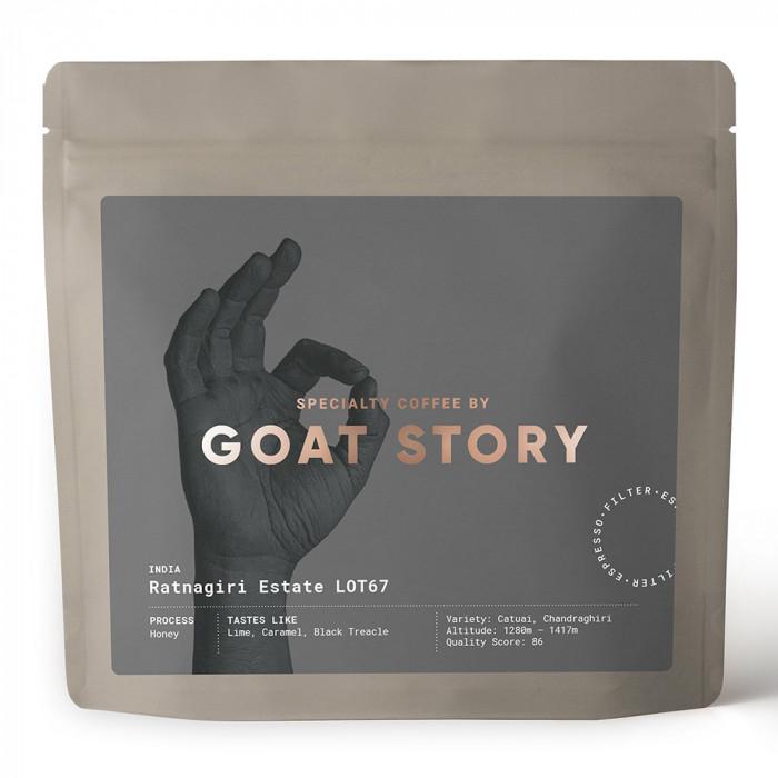 """Rūšinės kavos pupelės Goat Story """"India Ratnagiri Estate"""", 250 g"""