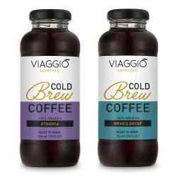 "Kalt gebrühter Kaffee Viaggio Espresso ""Cold Brew + Mexico Decaffeinato"", 592 ml"