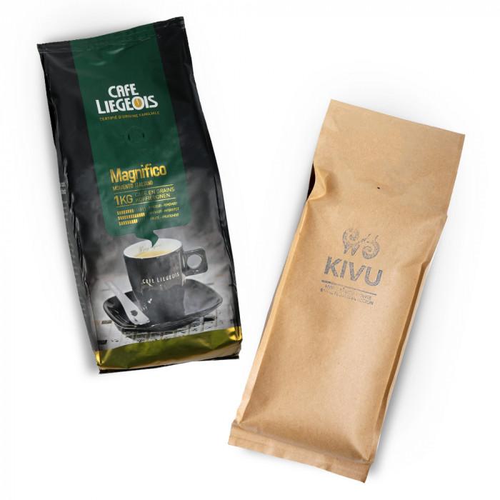 """Kafijas pupiņu komplekts """"Kivu"""" + """"Magnifico"""""""