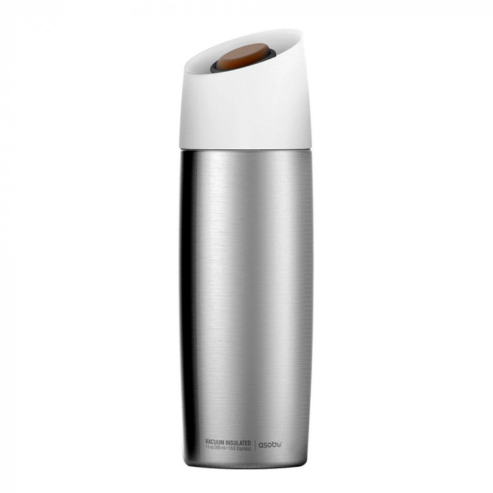 "Thermo cup Asobu ""5th Avenue Silver"", 390 ml"