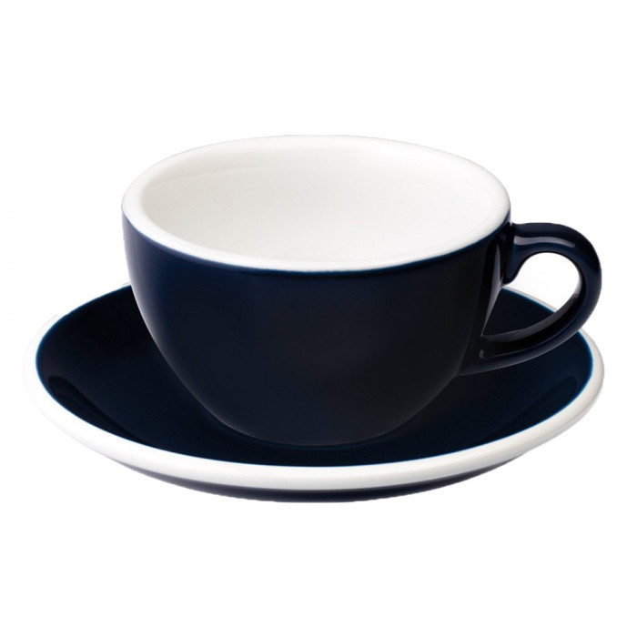 "Cappuccino cup with a saucer Loveramics ""Egg Denim"", 200 ml"