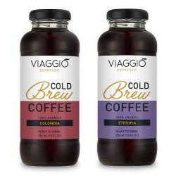 """Cold brew coffee Viaggio Espresso """"Cold Brew Colombia + Ethiopia"""", 592 ml"""